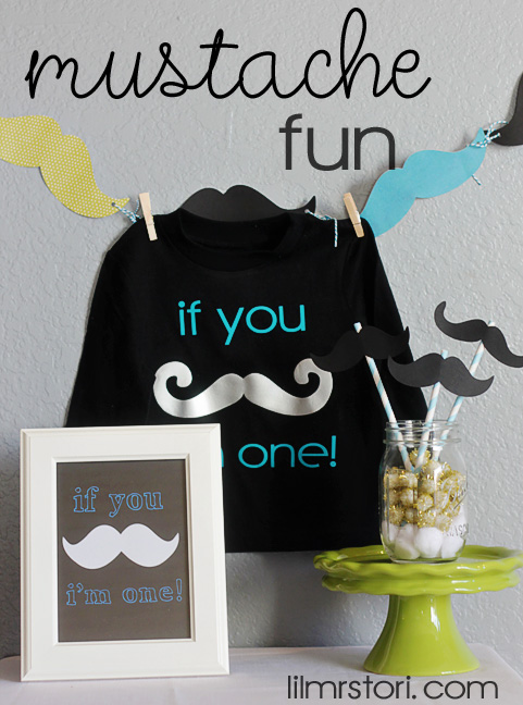 Mustache Party Decor | Lil Mrs. Tori