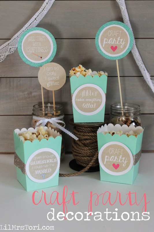 Craft Party Decorations | Lil Mrs.Tori