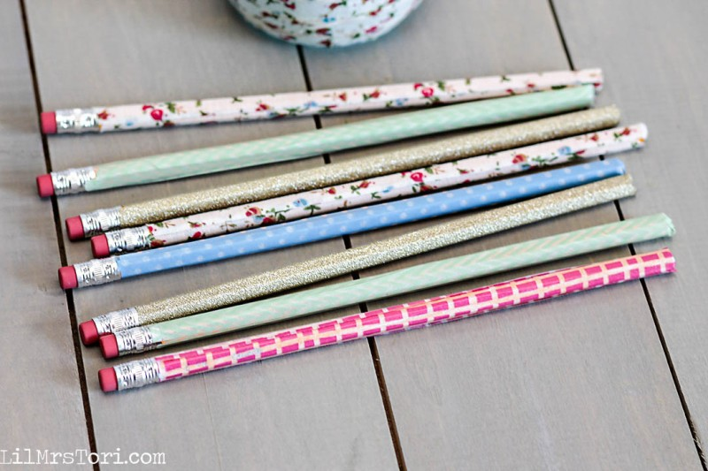 Washi Tape decorated Pencils