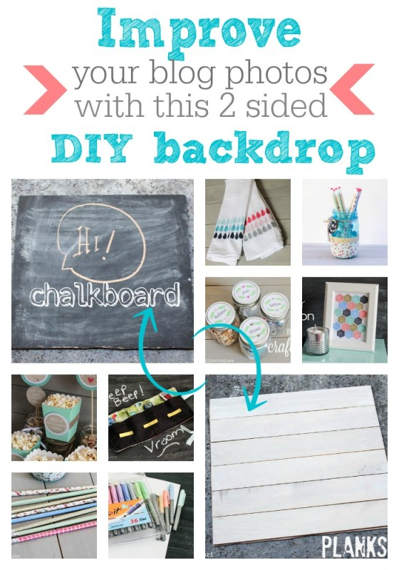 Improve your blog photos with this easy to make 2 sided backdrop - Lil Mrs. Tori