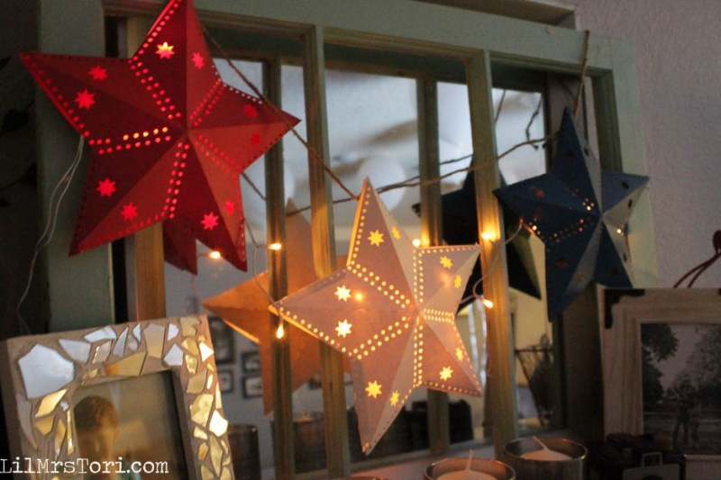 Star Lights for Fourth of July - Lil Mrs. Tori
