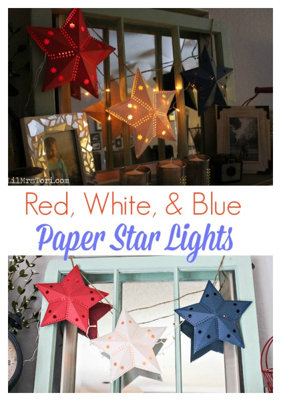 How To Make Paper Star Lights - Lil Mrs. Tori