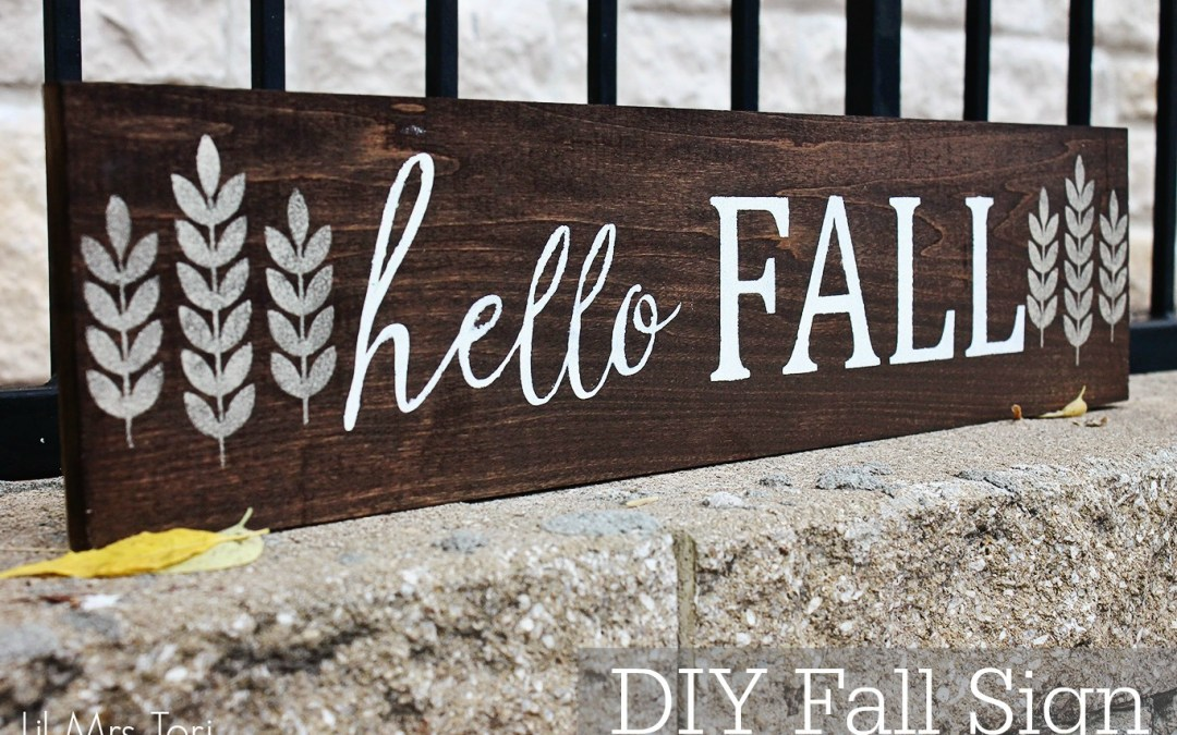 DIY Hello Fall Sign using the Silhouette