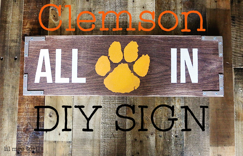 Clemson Tigers DIY Wood Sign