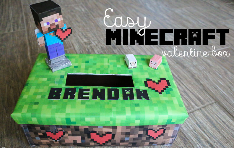 Minecraft Valentine Box | Lil Mrs Tori