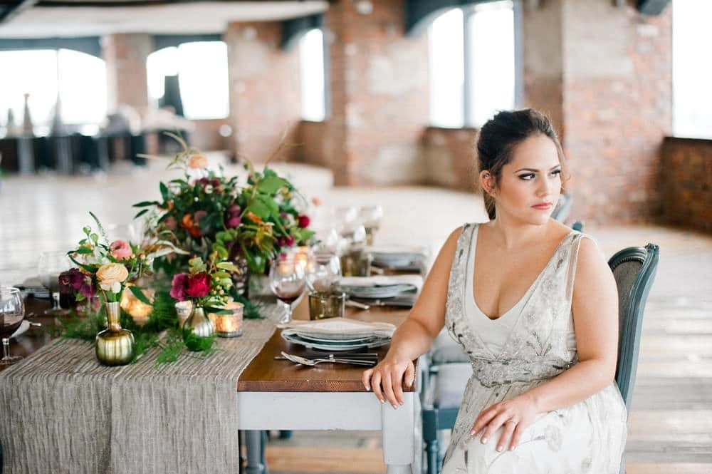 Tori Harris Makeup Hair Wedding London Styled Shoot Industrial Glam Meets Botanical Rock My Wedding
