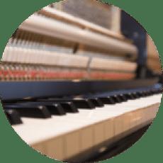 中古アップライトピアノ内部