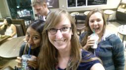 Starbucks run with Nikki, Emily and Caleb.
