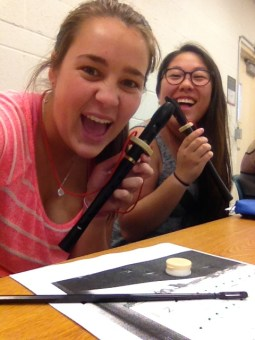 Learned how to play the recorder for my music class.