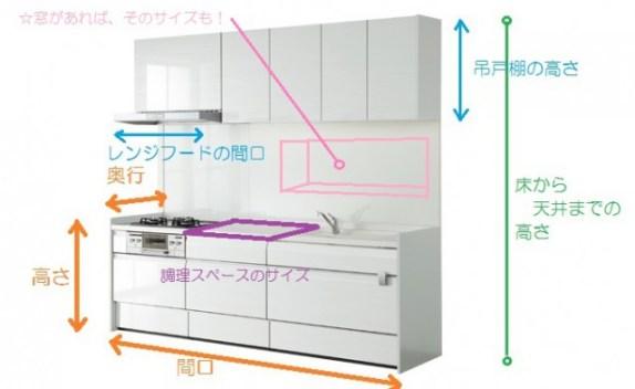 キッチンリフォーム 採寸方法