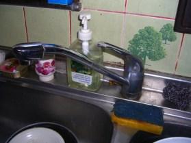 キッチン 水栓 取替え前
