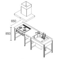 DIYキッチンI型プラン