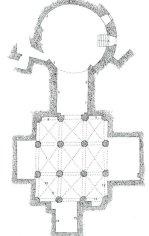 Pianta della cripta
