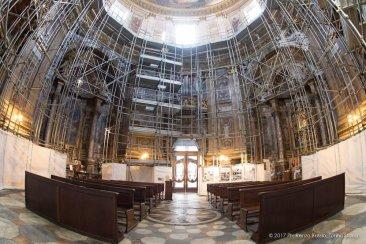 Torino, la cupola restaurata della Chiesa della Trinità.-6615