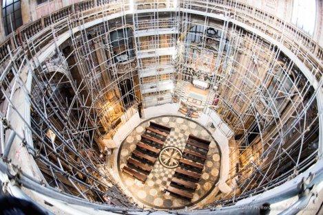 Torino, la cupola restaurata della Chiesa della Trinità.-6642