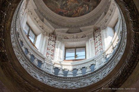 Torino, la cupola restaurata della Chiesa della Trinità.-6647