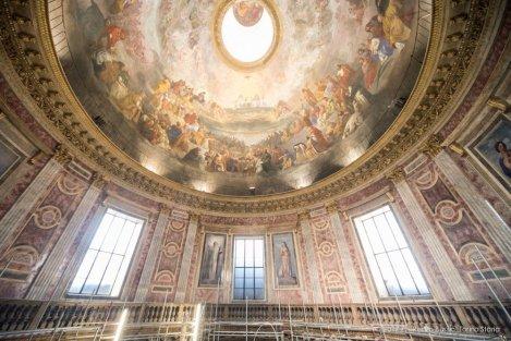 Torino, la cupola restaurata della Chiesa della Trinità.-6668