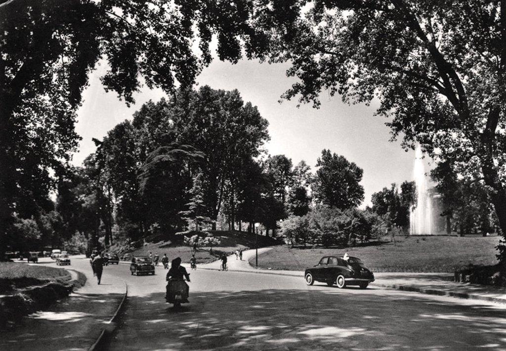 La fontana luminosa nel 1956