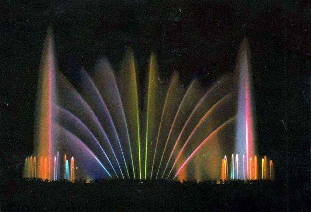 La fontana luminosa nel 1966