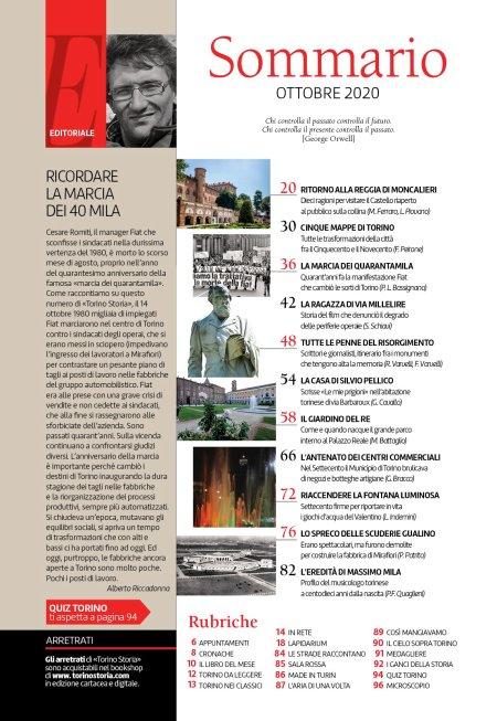 Torino Storia 52, Ottobre 2020, sommario