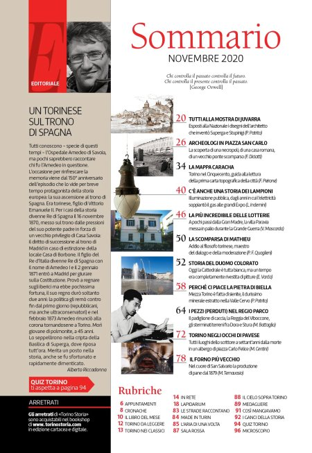 Torino Storia n. 53, novembre 2020, sommario