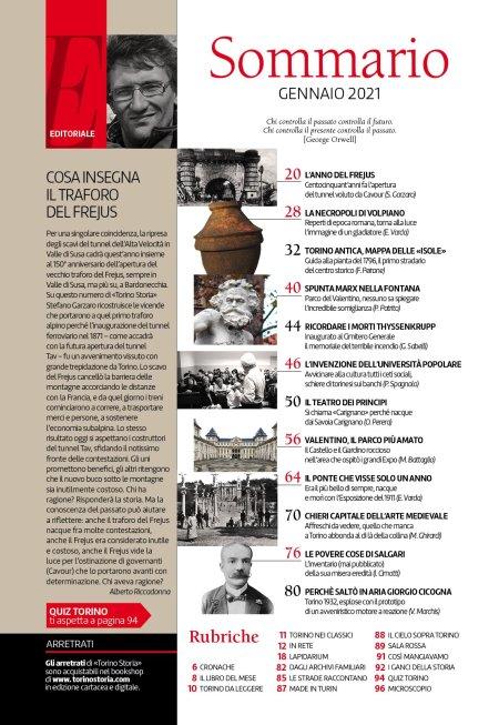 Torino Storia 55, gennaio 2021, sommario