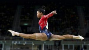 2016 Rio Olympics - Artistic Gymnastics - Preliminary - Women's Qualification - Subdivisions - Rio Olympic Arena - Rio de Janeiro, Brazil - 07/08/2016. Gabrielle Douglas (USA) of USA (Gabby Douglas) competes on the beam during the women's qualifications. REUTERS/Damir Sagolj