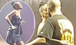 Rihanna and Drake kiss on stage