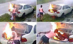carmen chamblee set fire to alleged ex boyfriends car