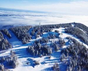 上空からのMont- Sainte- Anne