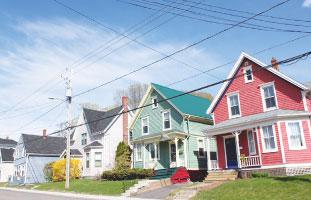 可愛い家々