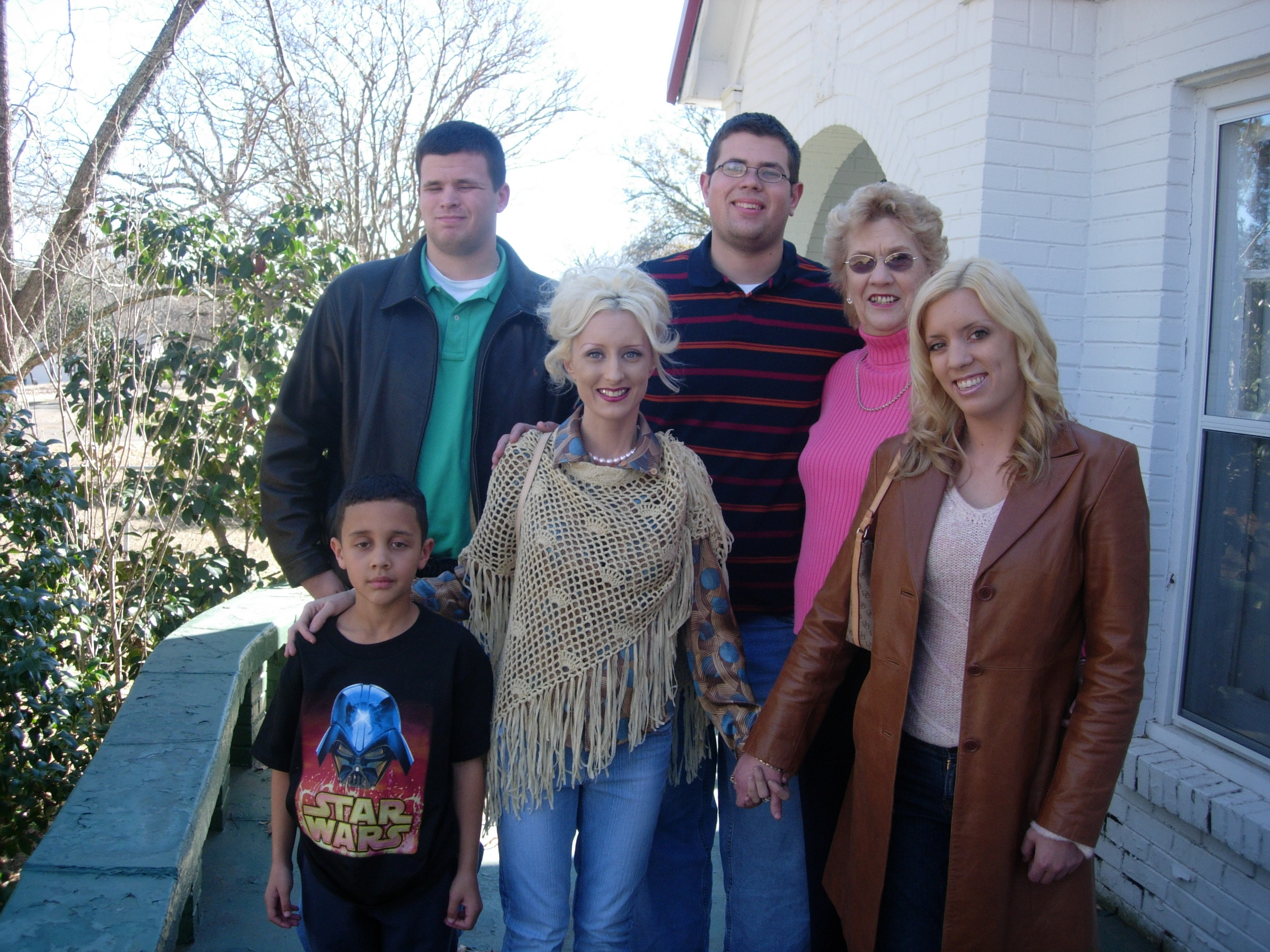 With grandchildren and great grandson at my grandmother's house, Christmas 2006.