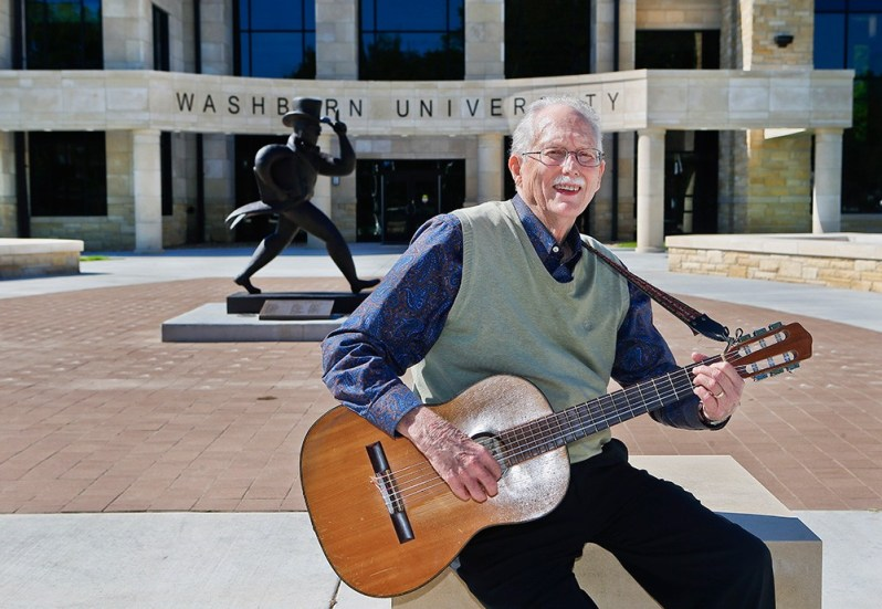 """Topekan Lee Wright's home, which was near Washburn University, was damaged by the June 8, 1966, tornado. Afterward, he sat down with his guitar and wrote a song about the storm, which his included on his CD """"""""Love to Love to Love."""" Today, Wright is assistant development director at the university."""