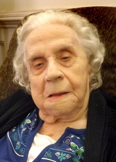 Carolyn Hibbs, 103, won a tornado song contest sponsored by The Topeka Daily Capital to raise money for the rebuilding of Washburn University.
