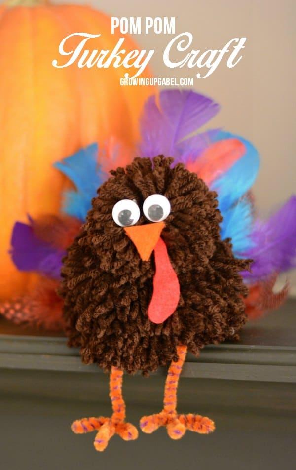 Pom-Pom-Turkey-Thanksgiving-Craft