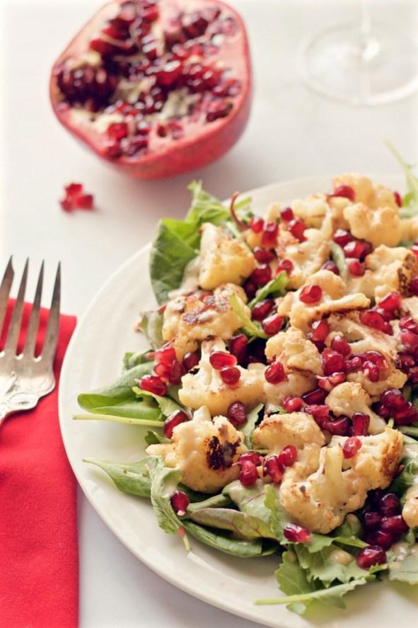 Kale-cauliflower-salad-with-pomegranate-seeds