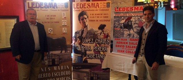 José Prieto, maire de Ledesma,  José Ignacio Cascón l'empresario
