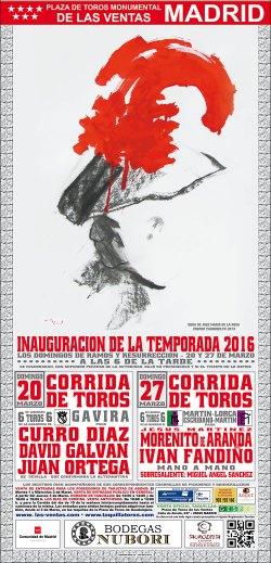 cartel las ventas domingo ramos y resurrección