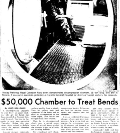 Globe & Mail, August 21, 1964, front cover.