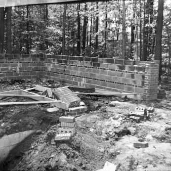 Construction site damaged by Brandon Union Group picketers. Archives of Ontario, Charles Irvine fonds C331-6.