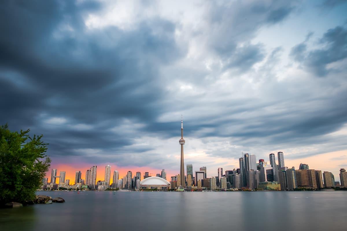 Toronto skyline seen from Toronto Islands