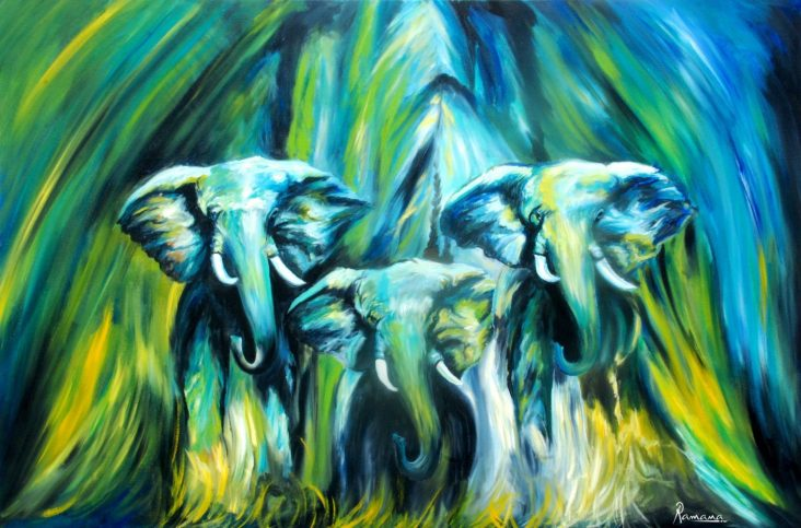african-elephant-art-oil-painting-1238934
