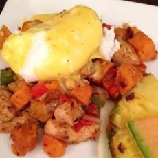 Roasted Chicken & Sweet Potato Hash