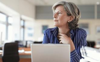 female mature lady office company
