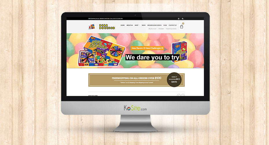 eCommerce website for a candy brand