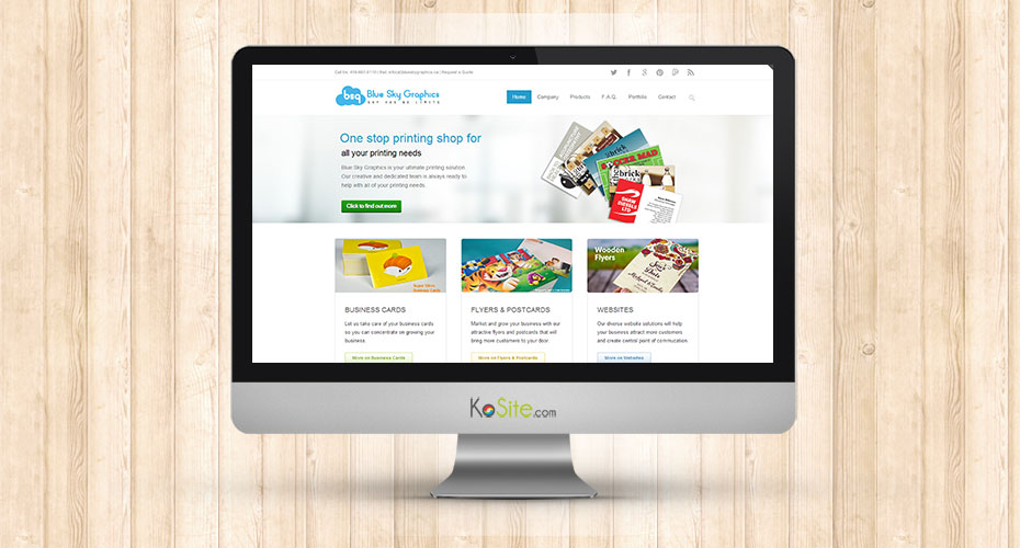 Responsive website development for a printing shop