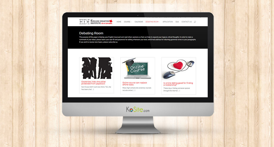 Website renewal for an education company