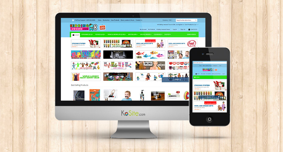 eCommerce website for a toy store