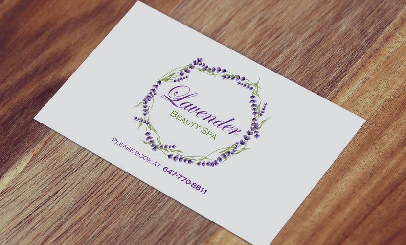 Business Card Design & Print for Lavender Beauty Spa