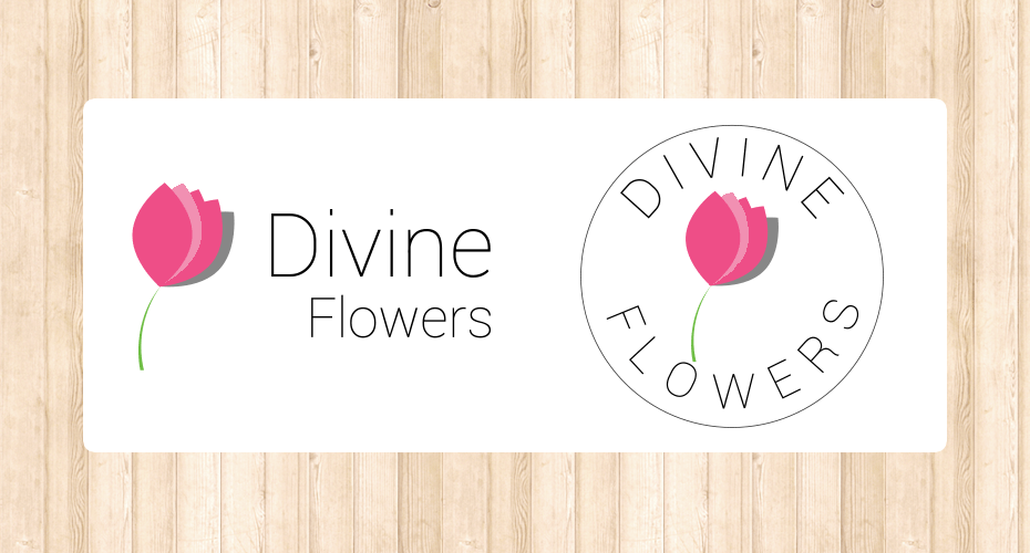 Logo design for a flower artist